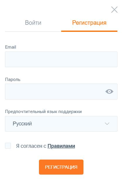 регистрация в IQ Option