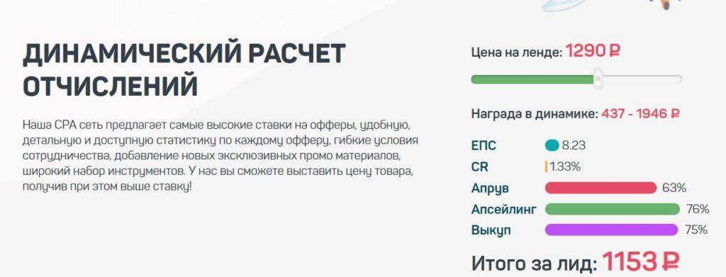 калькулятор отчислений в OmniCPA.ru