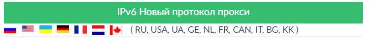ipv6 страны в Proxy-seller